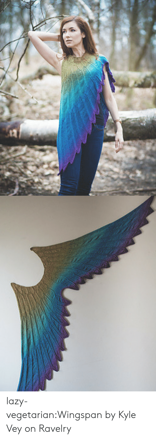 Lazy, Ravelry, and Tumblr: lazy-vegetarian:Wingspan by Kyle Vey on Ravelry