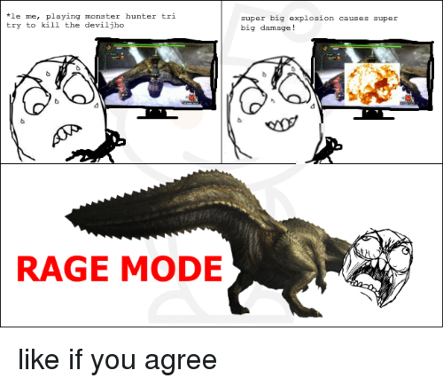 Le Me Playing Monster Hunter Tri Try To Kill The Deviljho Rage