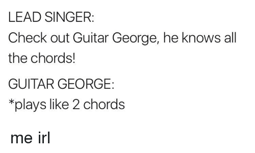 LEAD SINGER Check Out Guitar George He Knows All the Chords! GUITAR ...