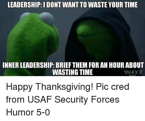 LEADERSHIP I DONT WANT TO WASTE YOUR TIME INNERLEADERSHIP