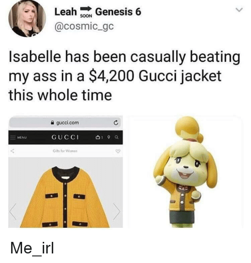 Leah Genesis 6 Isabelle Has Been Casually Beating My Ass In A 4200