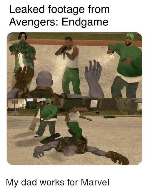 Leaked Footage From Avengers Endgame | Dad Meme on ME ME