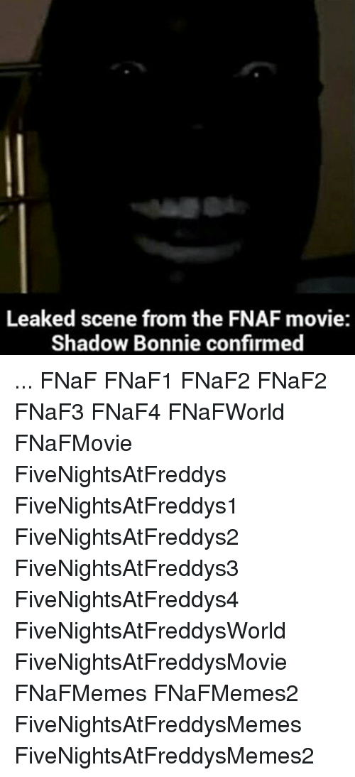 Leaked Scene From the FNAF Movie Shadow Bonnie Confirmed