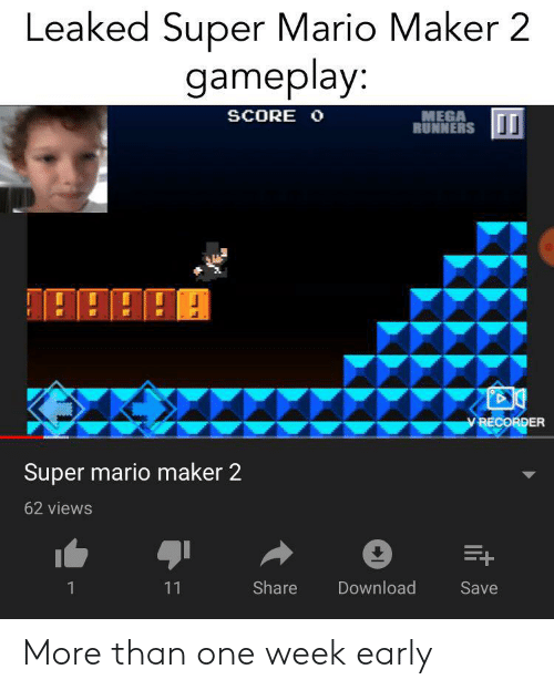 Leaked Super Mario Maker 2 Gameplay MEGA RUNNERS SCORE O v