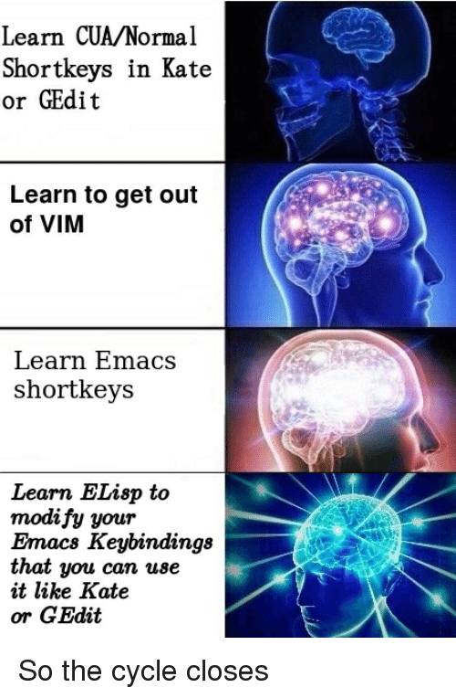 Learn CUANormal Shortkeys in Kate or GEdit Learn to Get Out of VIM