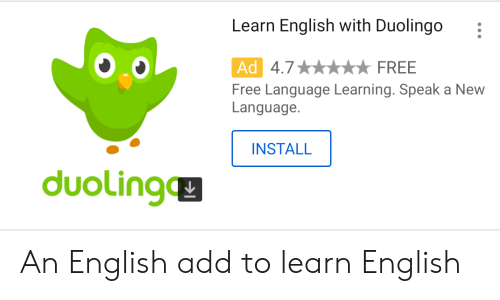 Learn English With Duolingo Ad Free Language Learning Speak