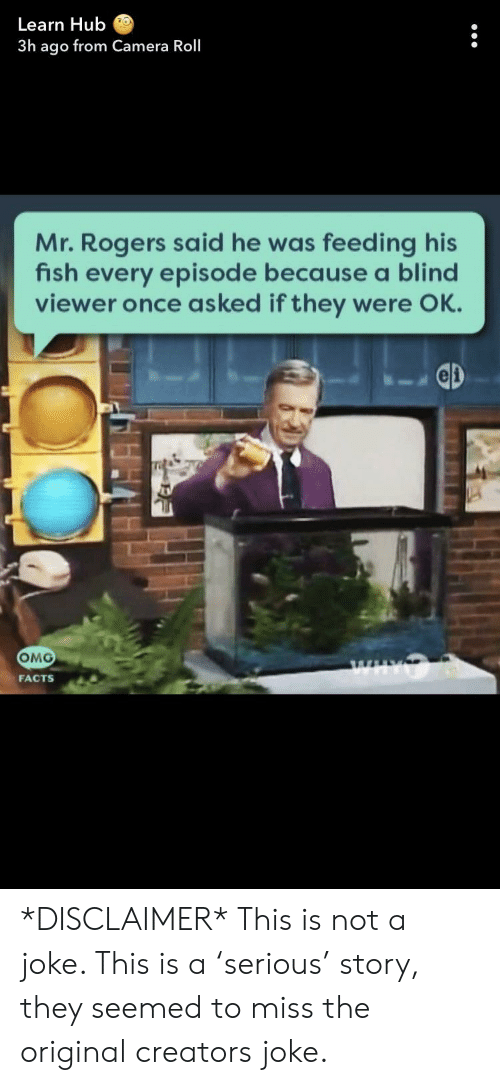 Learn Hub 3h Ago From Camera Roll Mr Rogers Said He Was