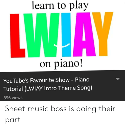 Learn to Play on Piano! YouTube's Favourite Show - Piano