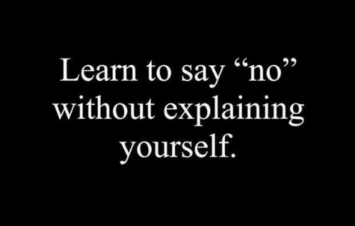 "Memes, 🤖, and  No: Learn to sav ""no""  without explaining  yourself"