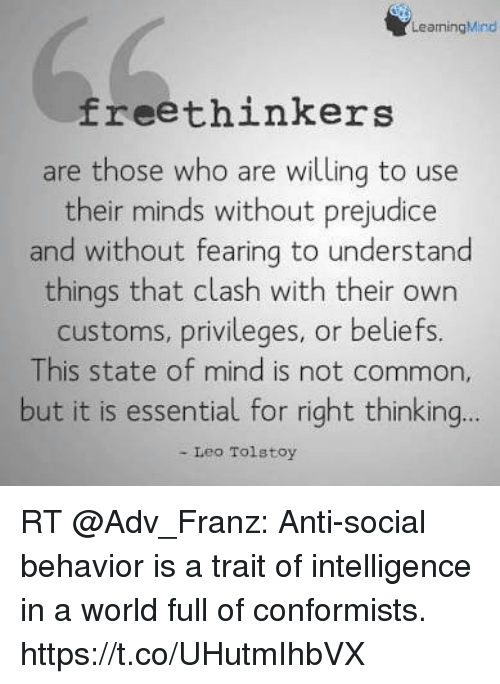 Common World And Mind LearningMind Freethinkers Are Those Who Willing To Use