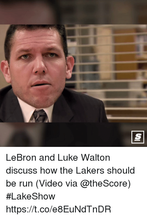 Los Angeles Lakers, Luke Walton, and Run: LeBron and Luke Walton discuss how the Lakers should be run   (Video via @theScore) #LakeShow https://t.co/e8EuNdTnDR