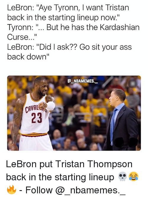 lebron sit your ass down