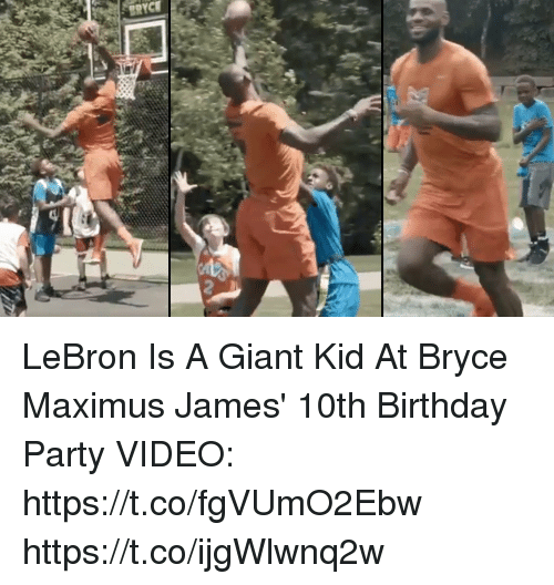 b7a838ce335 LeBron Is a Giant Kid at Bryce Maximus James  10th Birthday Party ...