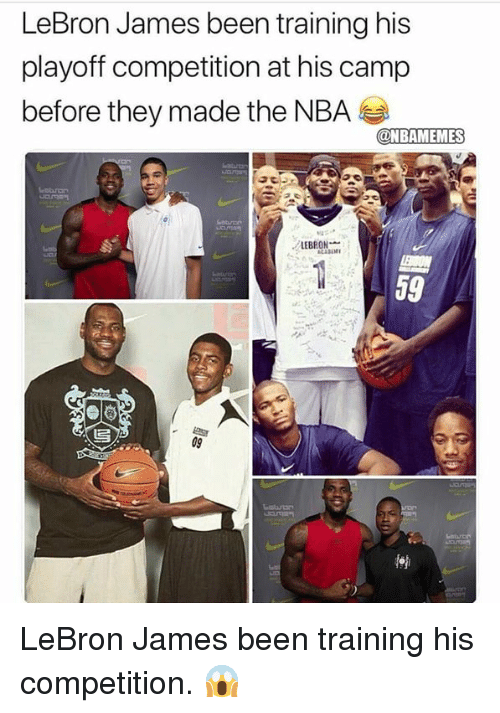 LeBron James, Nba, and Lebron: LeBron James been training hi:s  playoff competition at his camp  before they made the NBA  LEBRON  59 LeBron James been training his competition. 😱
