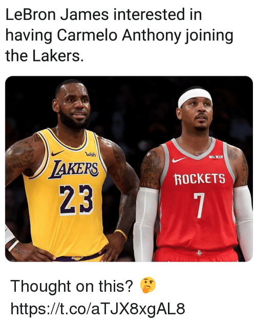 bb39c9ca56d Carmelo Anthony, Los Angeles Lakers, and LeBron James: LeBron James  interested in having