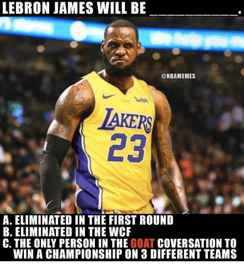 4c3888bd5aa1 LEBRON JAMES WILL BE Wish AKERS 23 a ELIMINATED IN THE FIRST ROUND B ...