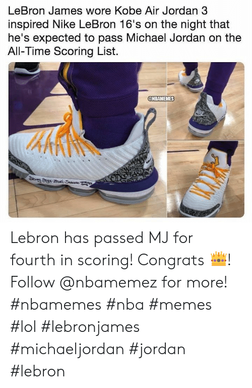 34c7dc083c9 LeBron James Wore Kobe Air Jordan 3 Inspired Nike LeBron 16 s on the ...