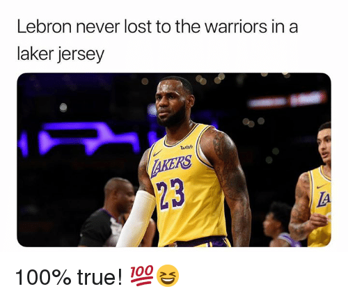 newest collection 4637b da575 Lebron Never Lost to the Warriors in a Laker Jersey Wish ...