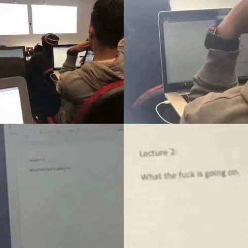Dank, Fuck, and 🤖: Lecture 2  What the fuck is going on