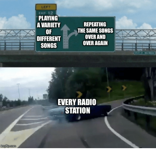 LEFT EXIT 12 PLAYING a VARIETY OF DIFFERENT SONGS REPEATING