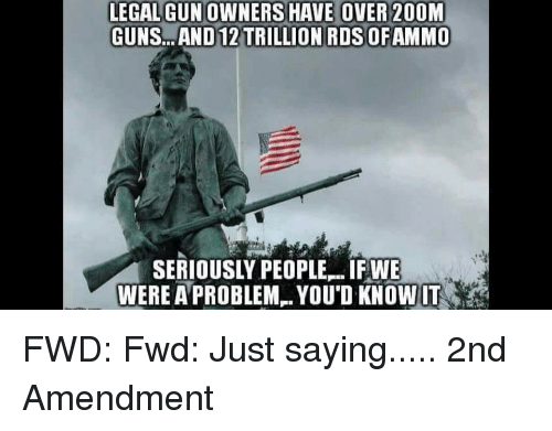 Legalgunowners Have Over 200m Gunsand 12 Trillion Rds Ofammo Were A