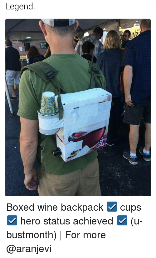 legend caheo louis boxed wine backpack %E2%98%91 cups %E2%98%91 hero 11940104 ✅ 25 best memes about box wine box wine memes,Box Wine Meme