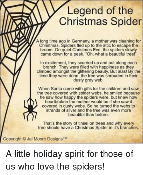 climbing memes and spider legend of the christmas spider along time ago in - The Christmas Spider