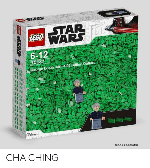 Lego, George Lucas, and Lucas: LEGO  6-12  75187  George Lucas with 4.05 Billion Dollars  WookieeNutz CHA CHING
