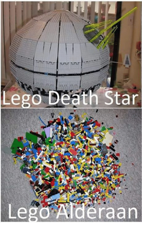 Death Star, Lego, and Memes: Lego Death Star  Lego Alderaan