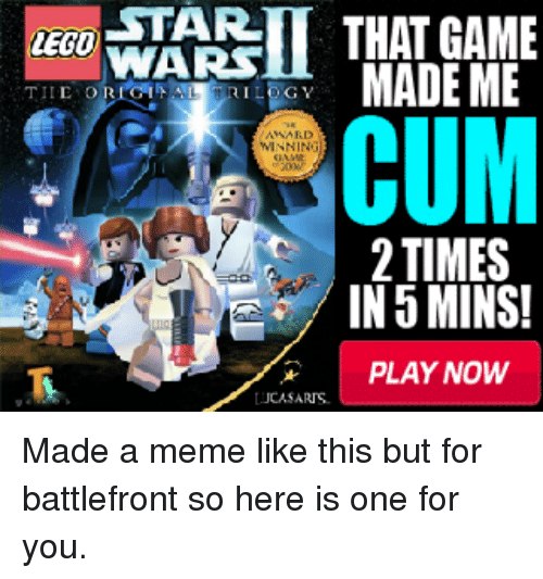 That game made me cum 2 times