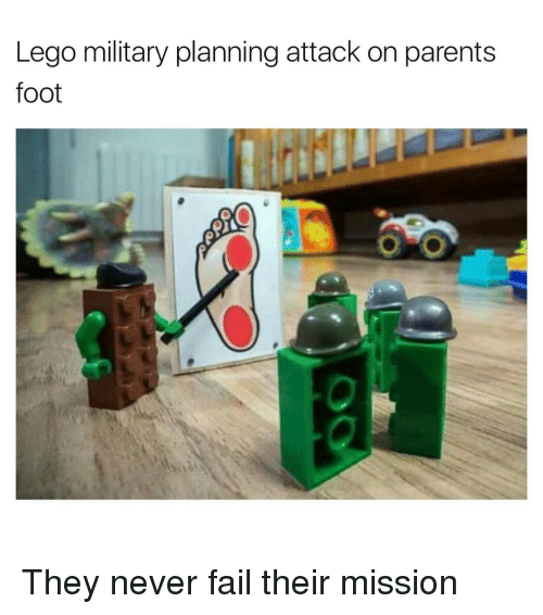 Funny, Foot, and Fails: Lego military planning attack on parents  foot They never fail their mission