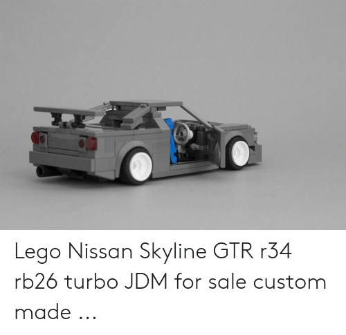 Lego Nissan Skyline GTR R34 Rb26 Turbo JDM for Sale Custom Made