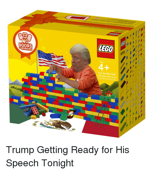 lego no doors orwind0ws ages tiny border wall 1000 miles worth of