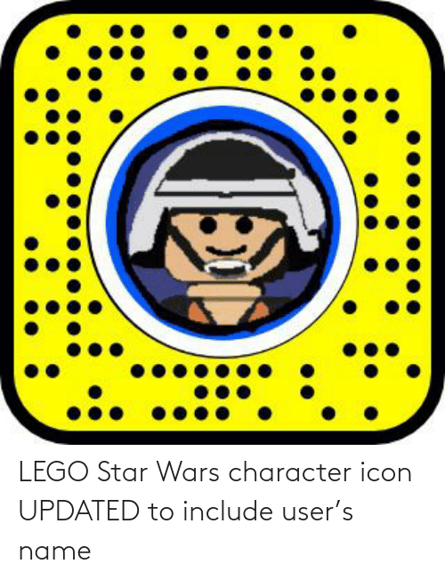 Lego Star Wars Character Icon Updated To Include User S Name