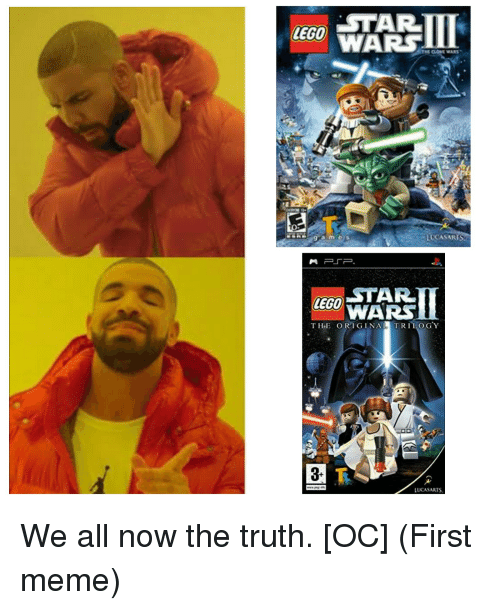 Lego, Meme, and Truth: LEGO  WARS  LUCASARIS  LETAR  WARS  ZEGO  THE ORIGINAL  TRILOGY  3-  LUCASARTS