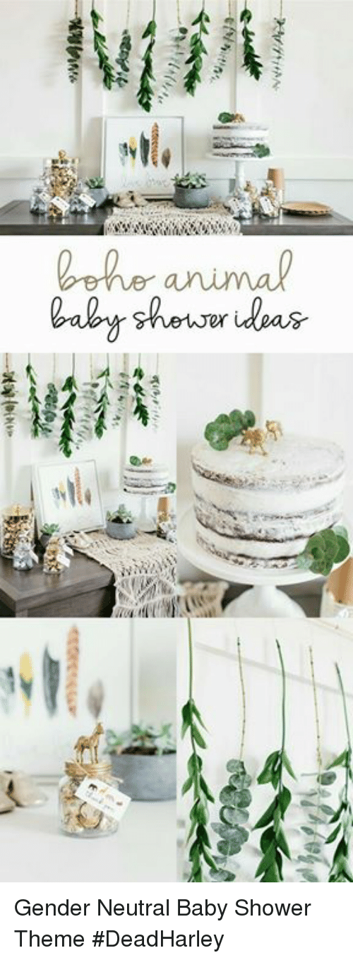 Lehe Animal Shower Ideas Gender Neutral Baby Shower Theme