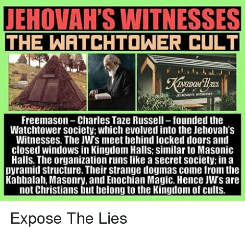 LEHOTTAHES WITNESSES THE WATCHTOWER CULT Freemason-Charles