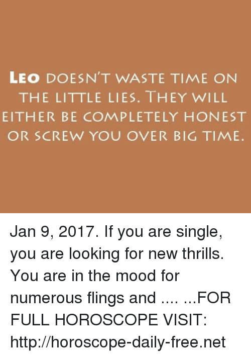 leo horoscope for january 9
