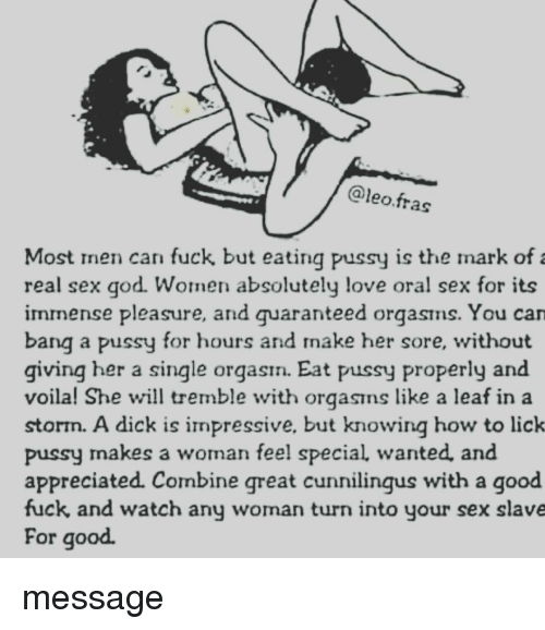 Seems real men eat pussy quotes opinion