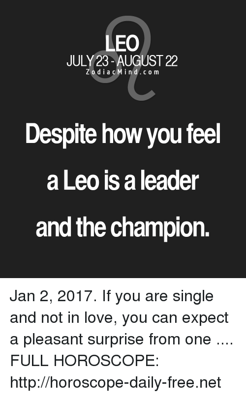 daily love horoscope for leo