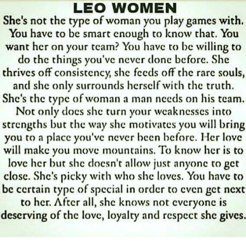 Leo woman when angry