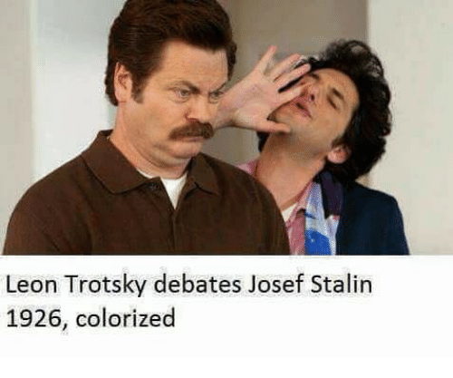 Joseph stalin and trotsky