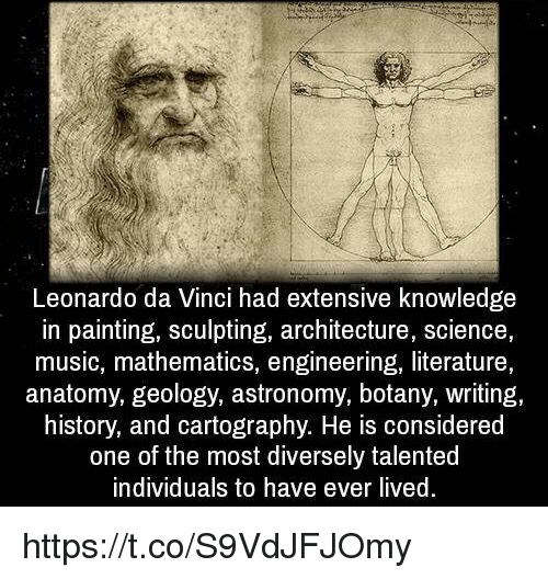 Leonardo Da Vinci Had Extensive Knowledge in Painting ...