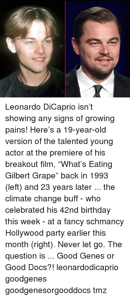 leonardo dicaprio isn%E2%80%99t showing any signs of growing pains here%E2%80%99s 6589133 leonardo dicaprio isn't showing any signs of growing pains! here's a