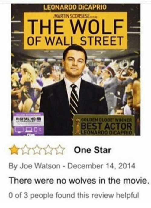 Opinion Wolf wall street movie