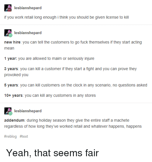 13a152497cafd Clock, Tumblr, and Yeah: lesbianshepard if you work retail long enough i  think