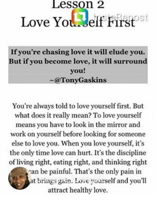 what does loving yourself mean