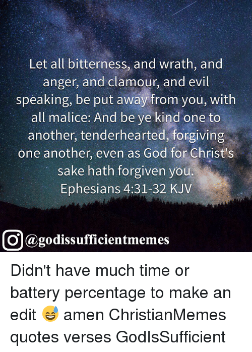 verses about bitterness