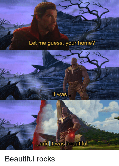 Let Me Guess Your Home It Was And It Was Beautiful Beautiful Meme