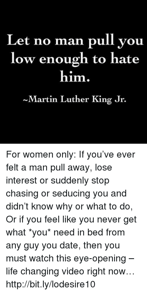 why a man suddenly loses interest